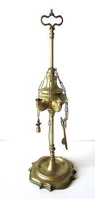 Antique Brass Indian Hindu Ritual Hanging Oil Lamp