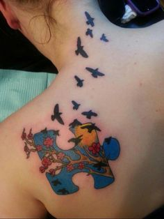 I LOVE this one! so beautiful and artistic. #Autism #Tattoo