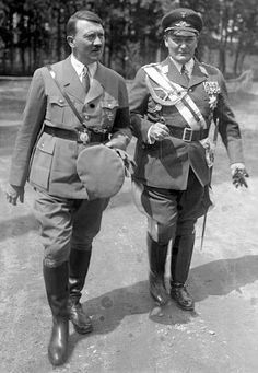 June 19, 1934 - In the days leading up to the purge, Hitler seen with Hermann Göring. World War II