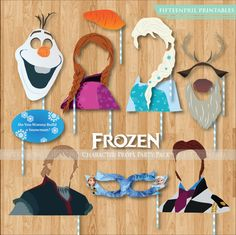 Frozen Characters Party Props Printables Pack-photobooth party