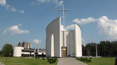 Immaculate Conception church in Šiauliai, Lithuania - Pin Coffee Sacred Architecture, Cultural Architecture, Church Architecture, Religious Architecture, Education Architecture, Concept Architecture, Residential Architecture, Modern Architecture, Immaculate Conception Church