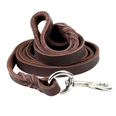 Petroad Leather Dog Leash For Large Dogs, Training Lead, Heavy Duty Brown  Leash For Dogs And Long And Inch Large (Brown) *** Discover This Special  Dog ...