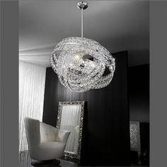 Voltolina Galaxy 6 Light Lead Crystal Pendant Statement ceiling light ...