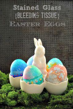 Stained Glass Bleeding Tissue Easter Eggs