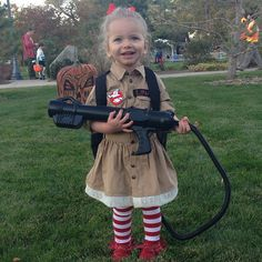 I love this Ghostbusters toddler Halloween costume - work's for boys or girls!