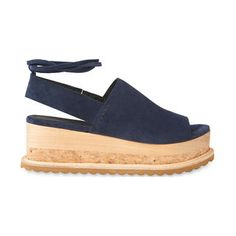 Rada Suede Wedge Sandals, in Navy on Whistles