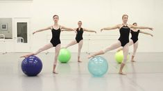 Stability ball ballet warm up