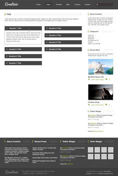 Creativio FAQ Page PSD Freebie