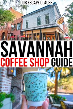 Whether you're looking for a cozy place to work or study, or for the best espresso in town, here are the best Savannah coffee shops to visit! best coffee shops savannah georgia   best savannah georgia coffee shops   best coffee shops in savannah ga   best cafes in savannah ga   best savannah cafes   best coffee in savannah ga   savannah coffee guide   savannah georgia coffee shops   cafes in savannah georgia   gallery espresso savannah   collins quarter savannah   mirabelle cafe savannah   Usa Travel Guide, Travel Usa, Travel Guides, Canada Travel, Travel Tips, Best Coffee Shop, Coffee Shops, Savannah Chat, Savannah Georgia