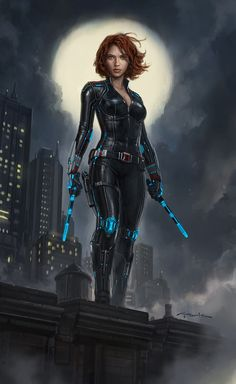 Black Widow- Avengers: Age of Ultron, Andy Park on ArtStation at https://www.artstation.com/artwork/D6540 - More at https://pinterest.com/supergirlsart #blackwidow #art