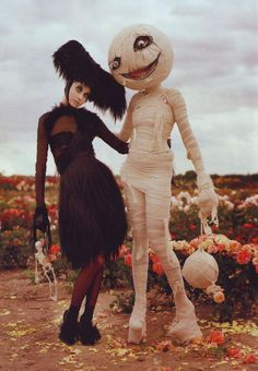 Tim Walker & Tim Burton Shooting for Harper's Bazaar Tim Burton's World - Now or Never Blog