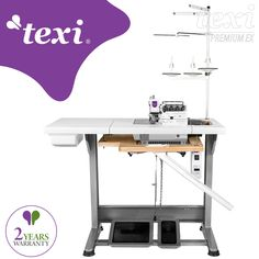 Texi Quattro 24 DD Premium EX - 4-thread overlock machine with built-in AC Servo motor and needles positioning - complete sewing machine. #texisewing #sewingmachine #industrial