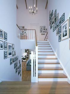Beispiele für Treppenhaus gestalten - 80 Ideen als Inspirationsquelle Decoraciones De Jardín ? Escalier Design, Interior Decorating, Interior Design, Stairway Decorating, Studio Interior, House Stairs, Basement Stairs, Wood Stairs, Staircase Design