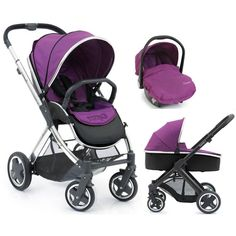 BabyStyle Oyster 2 Mirror Finish 3in1 Travel System-Grape