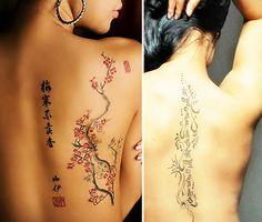 frauen-tattoo-ideen-für-den-rücken