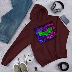 Everyone needs a go-to, cozy sweatshirt to curl up in, so go for one that's soft, smooth, and stylish. Joker Symbol, Rib Knit, Hooded Sweatshirts, Hoods, Batman, Symbols, Stitch, Knitting, Stylish