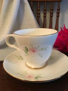 Sadler Wellington Pink floral tea cup by HollyWouldFind on Etsy