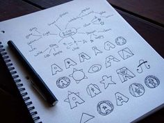 Great examples of logo design process.