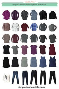 2017 Winter Capsule Wardrobe. Stay at home Mom capsule wardrobe. Minimalist wardrobe. Declutter your clothes. #CapsuleWardrobe