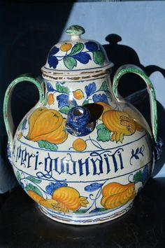 Large Vintage Pot / Apothecary Pharmacy Jar