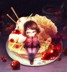 Cherry jam fairy by Mushstone on deviantART