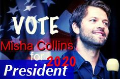 Really.  We need the whole US to just write Misha Collins on their voting sheets.  Who can say no to over 318.9 million people???
