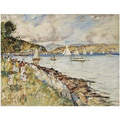 James Kay , 1858 - 1942 The Clyde near Holy Loch oil on canvas
