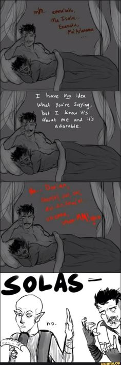 Dorian with the Dalish Elf