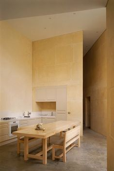 Stone house, Lyon, France, Perraudin architecture, simplicity, stone, massive walls, timeless, solid stone