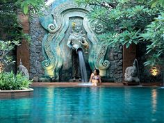 The resort has a tranquil feel with tropical like...