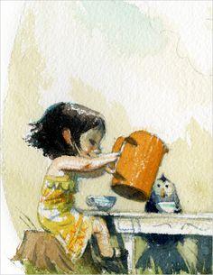 "Chris Appelhans, ""Tea for Three"", detail"