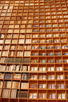 The Library at the Shiba Ryotaro Memorial Museum, designed by Tadao Ando, Osaka, Japan. See this great article as well ....  http://architectuul.com/architecture/shiba-ryotaro-memorial-museum