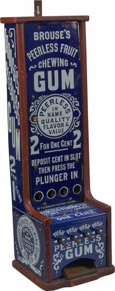 1 Cent Brouse's Peerless 4-Column Vending Machine c. 1890
