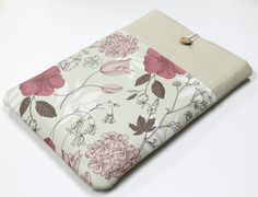 Laptop Case  MacBook Air 13, Grey pink floral, Meadow flowers, Macbook Pro 13, Macbook Retina 15, custom laptop size, padded laptop sleeve on Etsy, $32.00