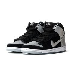 8545af60d0d7 Nike SB Dunk High Pro-Black Metallic Silver-Black