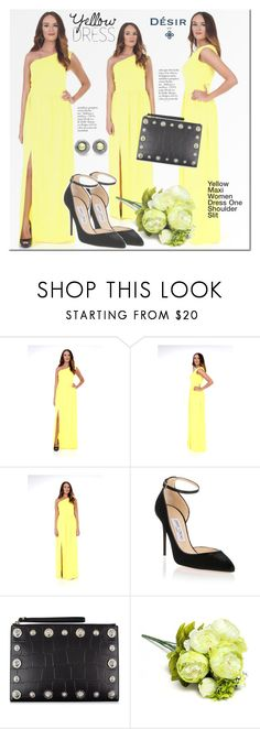 Designer Clothes, Shoes & Bags for Women Yellow Maxi Dress, Handmade Leather Shoes, Dress First, Plus Size Dresses, Jimmy Choo, Polyvore Fashion, Fashion Looks, Shopping, Collection