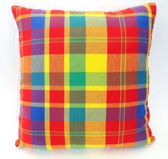 Plaid Throw Pillow Covers Multi Color 16 x 16
