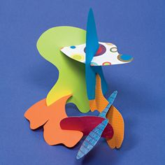 Paper Sculpture | Crafts | Spoonful--steal this idea for grandkid art projects