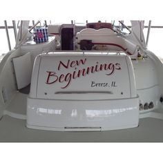 Custom Graphic Graphics Design Art Vinyl Wrap Installation - Custom houseboat vinyl names