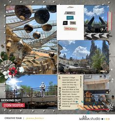 Disney Star Wars Best Day in the Galaxy Project Life Scrapbooking Layout Project Mouse (Galaxy): by Sahlin Studio