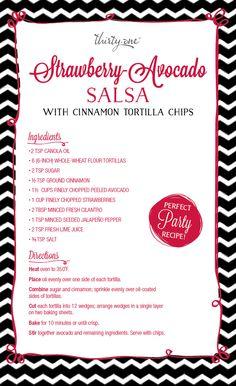 Perfect Party Recipe: Strawberry-Advocado Salsa!