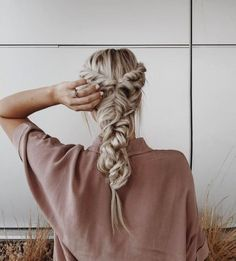 Twisted hair combined with messy braids makes a nice twist on the classic braid #styled...x