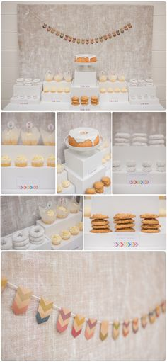 Neutral Dessert Table