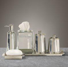 Bathroom Accessories Restoration Hardware flatiron union stoneware accessories collection white