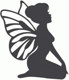 Silhouette Design Store: Sitting Fairy - Welcome My Home Silhouette Design, Fairy Silhouette, Silhouette Portrait, Silhouette Images, Kirigami, Fairy Templates, Foto 3d, Fairy Lanterns, Fairy Jars