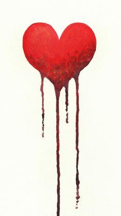 bleeding heart drawing - Google Search