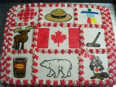 If I had the skills, I'd totally be making this for tomorrow. Canada Day 150, Canada Day Party, Happy Canada Day, O Canada, Canada Day Crafts, Fab Cakes, Holiday Cakes, Cake Art, Cupcake Cakes