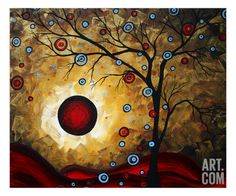 Frosted Gold Giclee Print by Megan Aroon Duncanson at Art.com