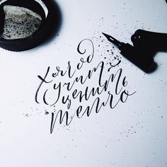 Modern Calligraphy Tutorial, Modern Calligraphy Alphabet, Calligraphy Practice, Typography Letters, Hand Lettering, Unusual Tattoo, Unique Tattoos, Merida, Book Tattoo