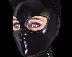 High quality fetish and fashion clothing. by BrightAndShinyLatex Adult Superhero Costumes, Black Catwoman, Vanessa Lake, Latex Cosplay, Latex Hood, Viking Dress, Full Body Suit, Black Hood